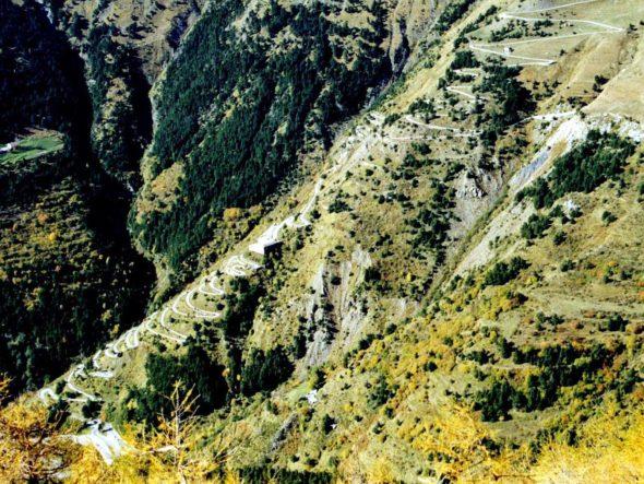 Ca et ancienne route du col de Tende (versant Roya)
