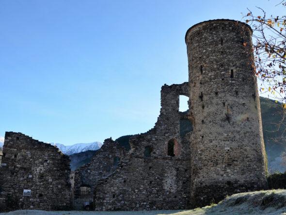 Vestiges du château des Lascaris de La Brigue