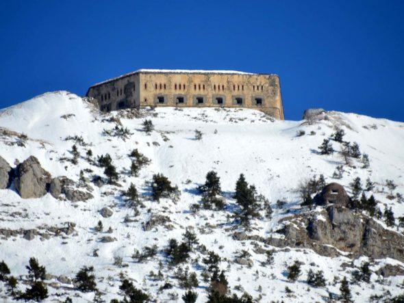 Système de fortification du col de Tende à la fin du XIXe siècle